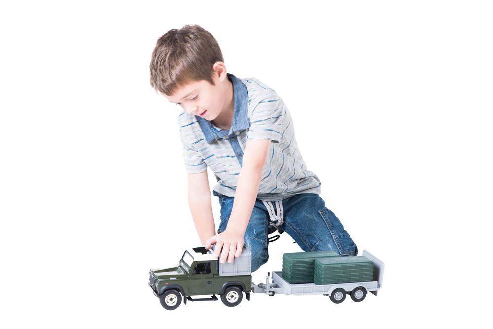 Land Rover und Trailer Set