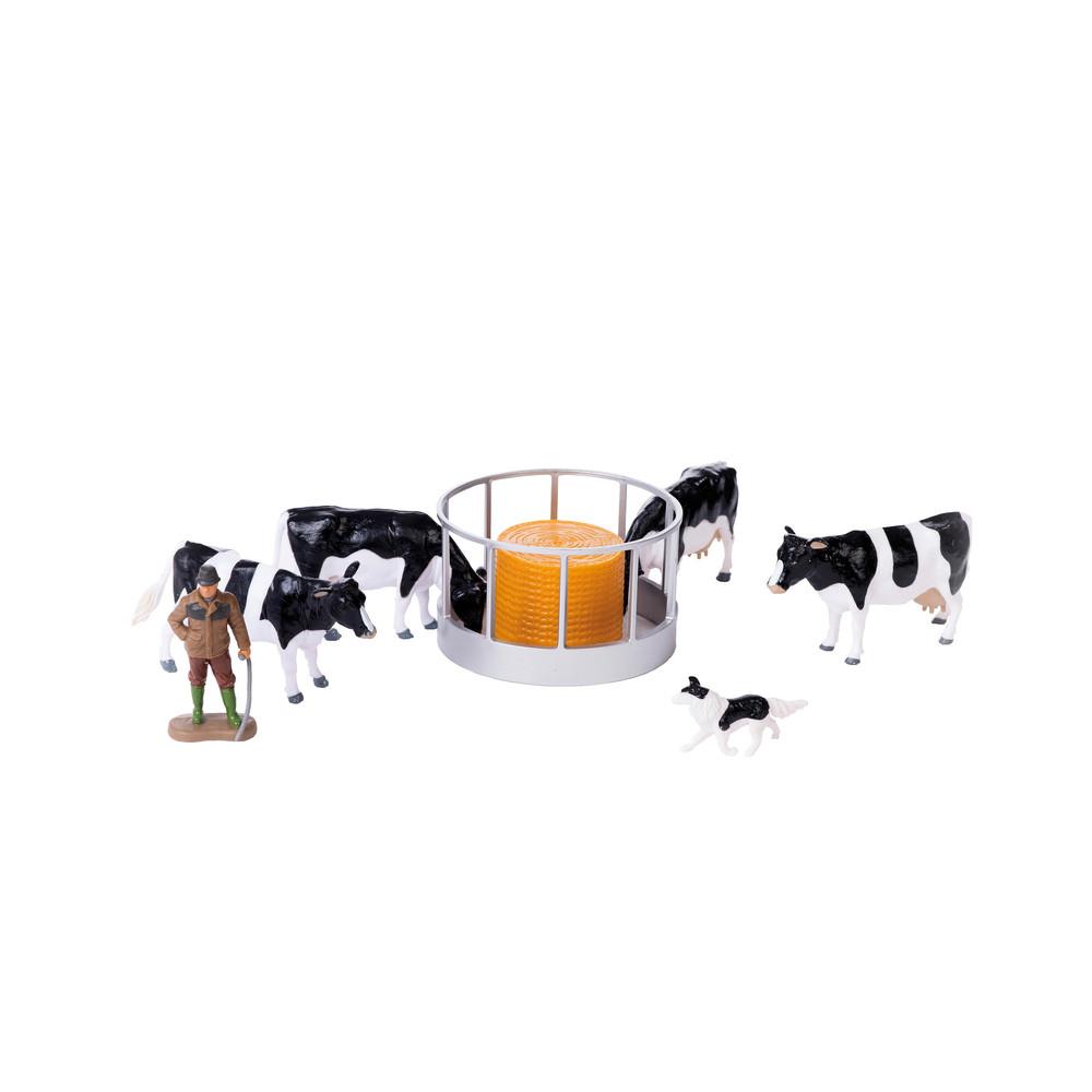 Futterstation Kühe inkl. Bauer und Hund