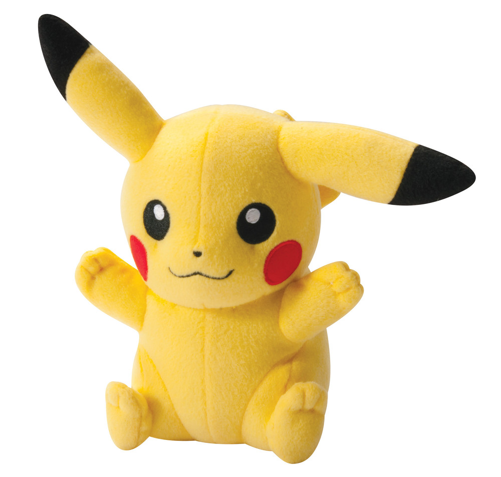Pikachu Plüsch (freudig, abgeknicktes Ohr)