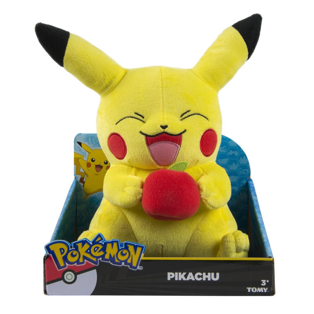 Großer Pikachu Plüsch mit dem Apfel